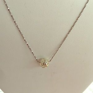 Jewelry - Sterling silver ball pendent on a chain